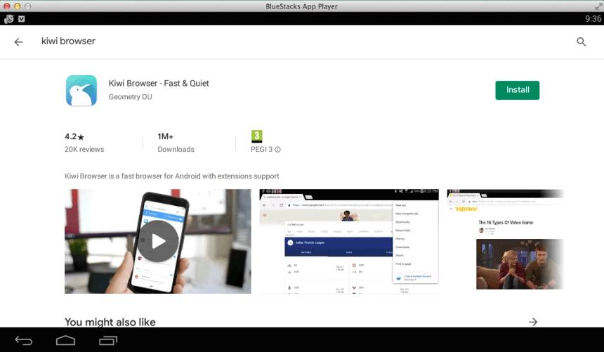 descargar kiwi browser en Windows o Mac