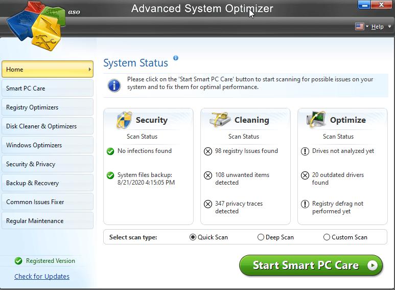 optimizador de sistema avanzado