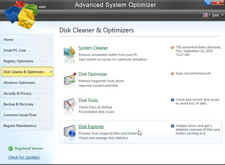 limpiador y optimizador de disco