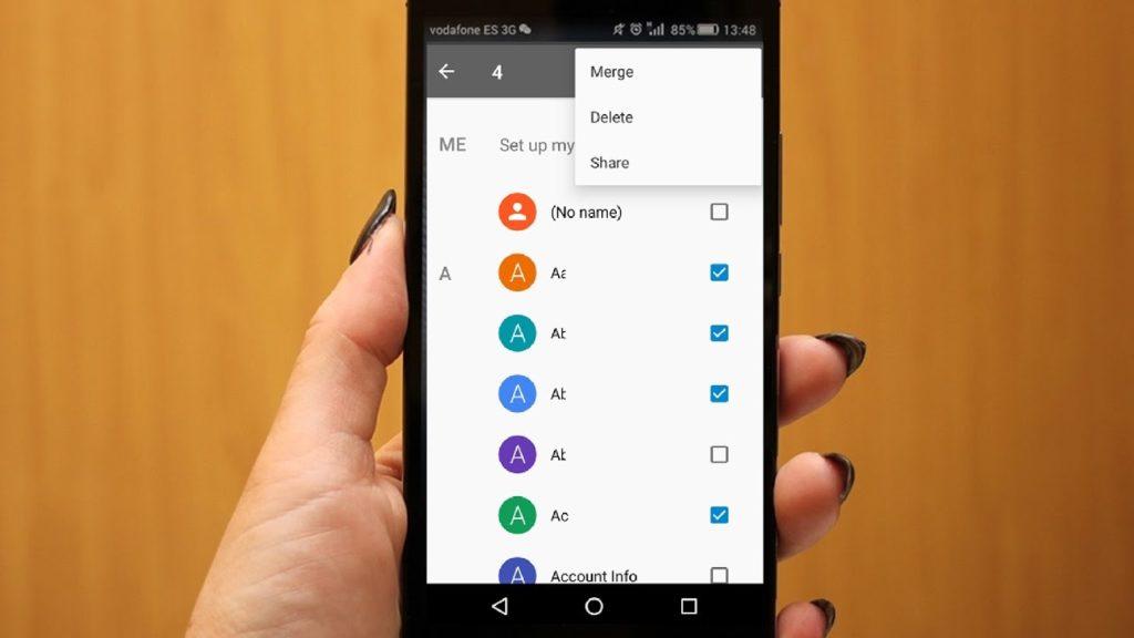 eliminar contactos duplicados android