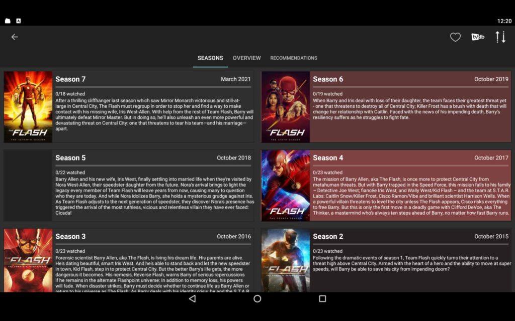 Aplicación de Windows Cinema HD