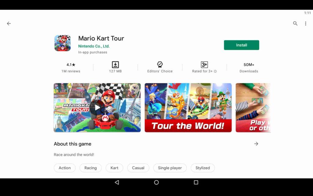Instalar Mario Kart Tour en PC