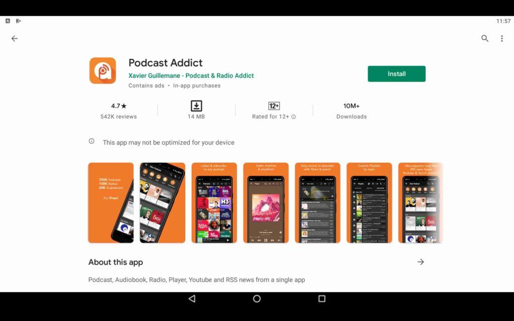 Instalar Podcast Addict en el PC