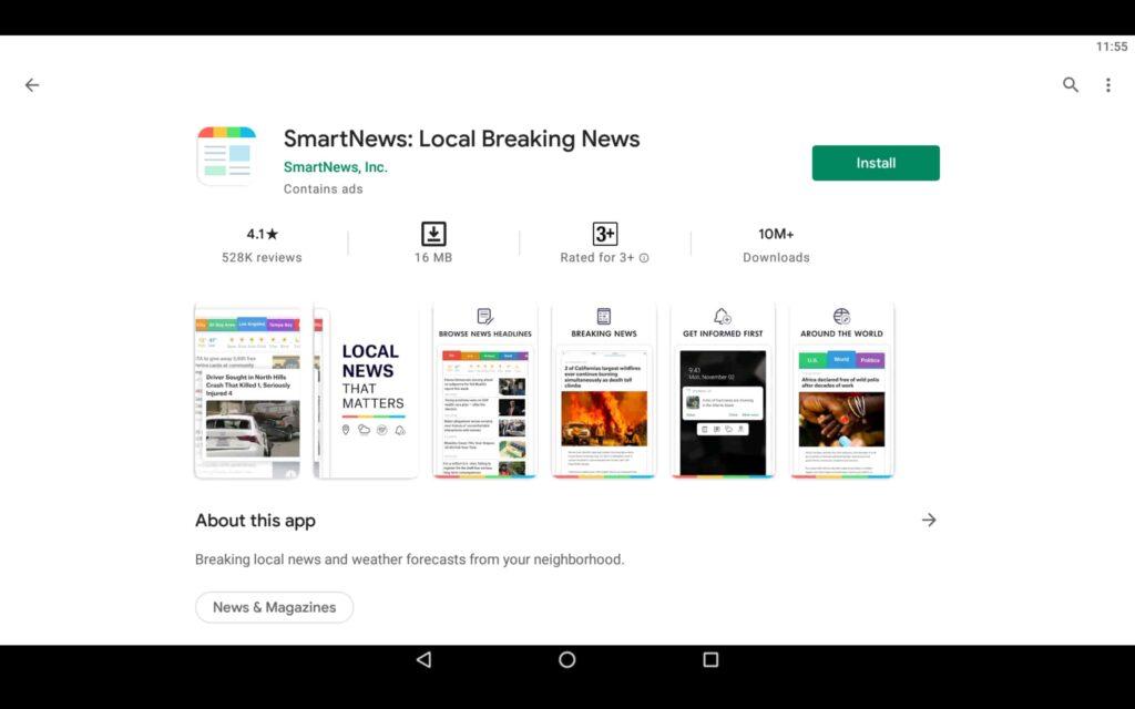 Instalar SmartNews en PC