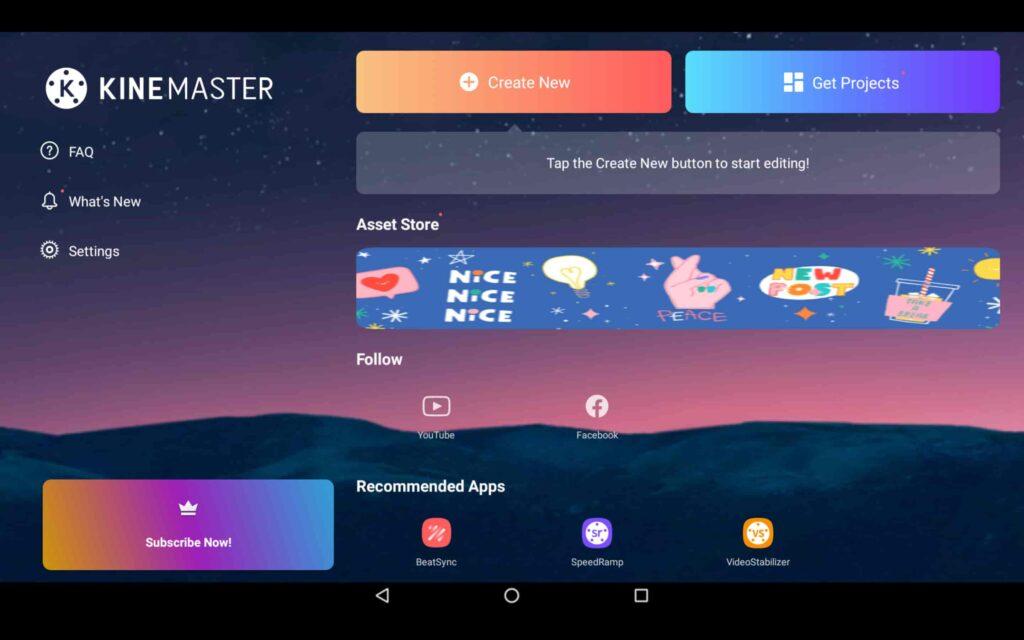 Aplicación KineMaster para Windows