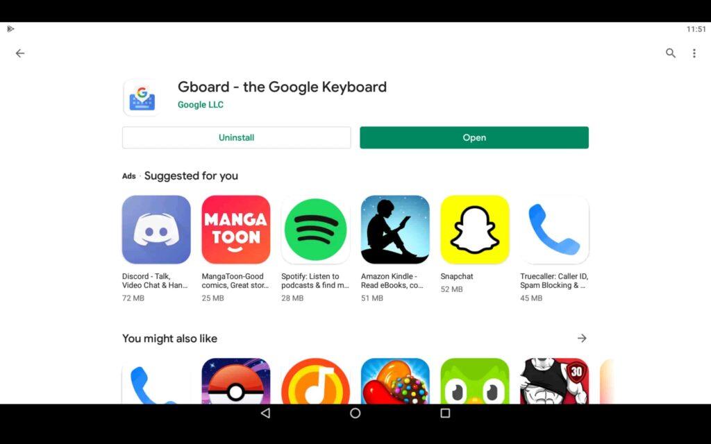 Abrir aplicación de teclado