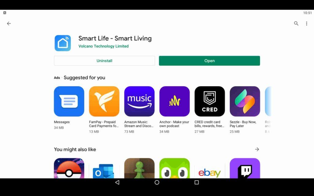 Abra la aplicación Smart Living