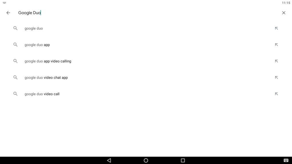 Aplicación de búsqueda de videollamadas