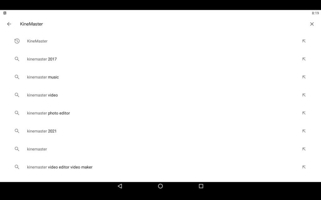 Aplicación Search Video Editor