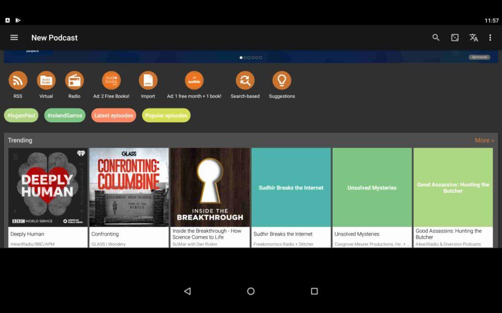 Usa Podcast Addict en tu PC