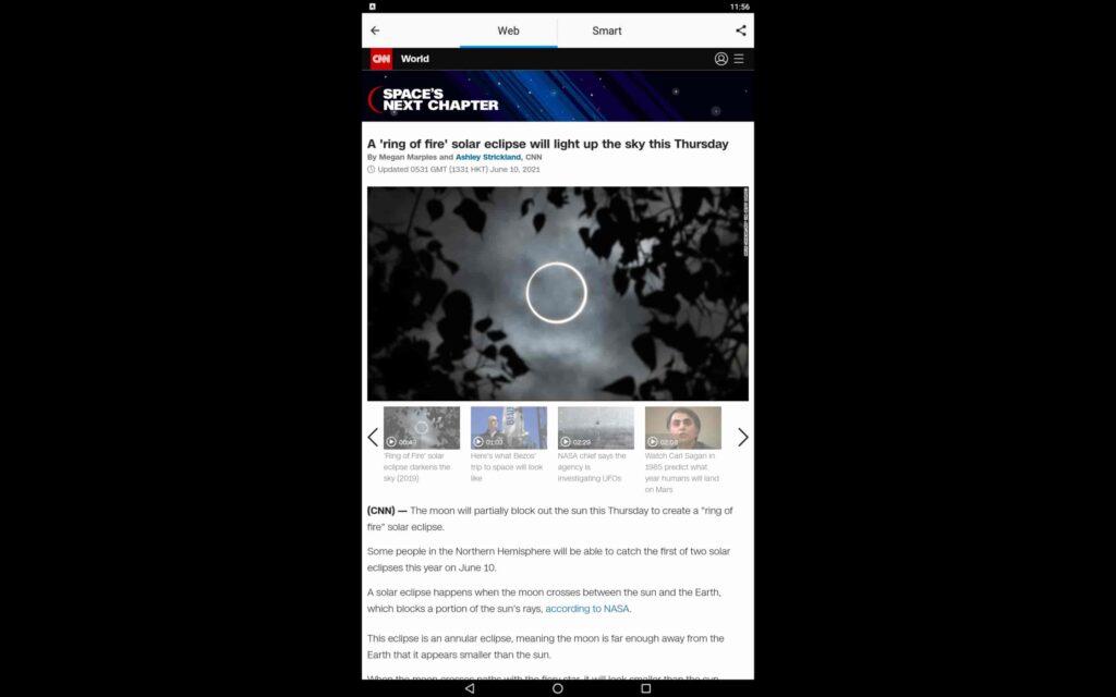 Utilice SmartNews en el PC