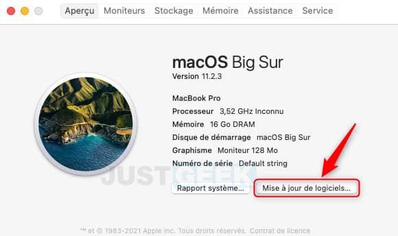 Actualización del software del MacBook
